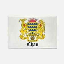 Chadian Coat of Arms Seal Rectangle Magnet