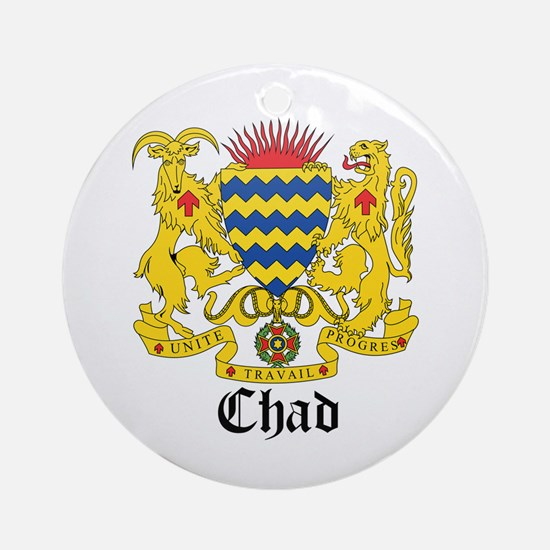 Chadian Coat of Arms Seal Ornament (Round)