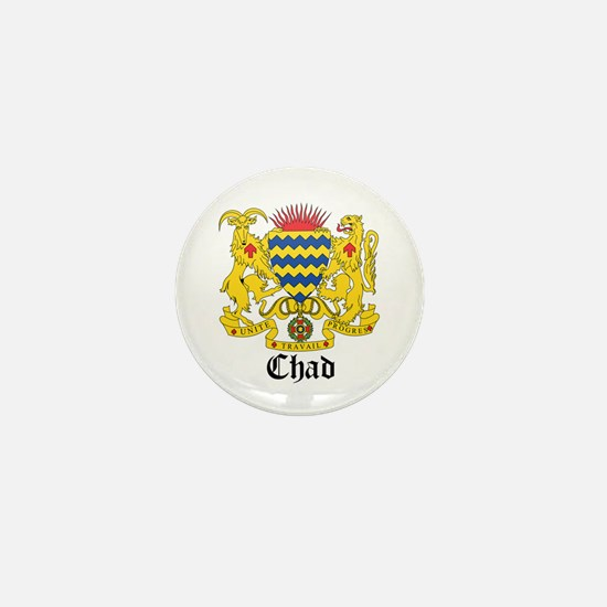 Chadian Coat of Arms Seal Mini Button