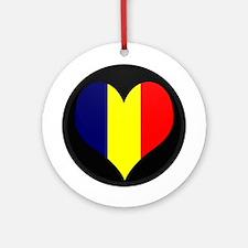 I love Chad Flag Ornament (Round)