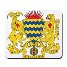 Chad Coat of Arms Mousepad