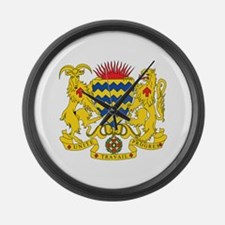 Chad Coat of Arms Large Wall Clock
