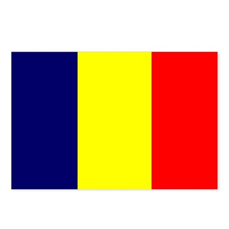 Chad Flag Postcards (Package of 8)