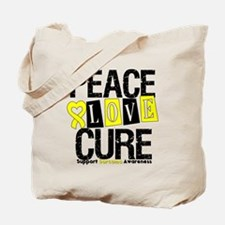 Sarcoma PeaceLoveCure Tote Bag