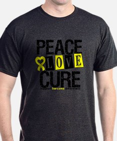 Sarcoma PeaceLoveCure T-Shirt