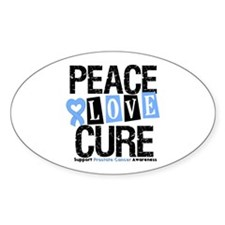 Prostate Cancer Cure Oval Decal