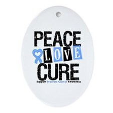 Prostate Cancer Cure Oval Ornament
