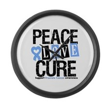 Prostate Cancer Cure Large Wall Clock