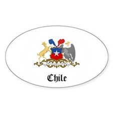 Chilean Coat of Arms Seal Oval Decal