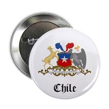 """Chilean Coat of Arms Seal 2.25"""" Button"""