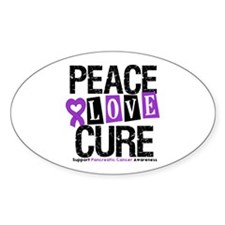 Pancreatic Cancer Cure Oval Sticker (10 pk)