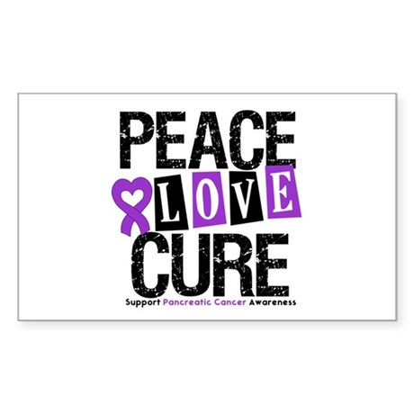Pancreatic Cancer Cure Rectangle Sticker