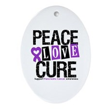 Pancreatic Cancer Cure Oval Ornament