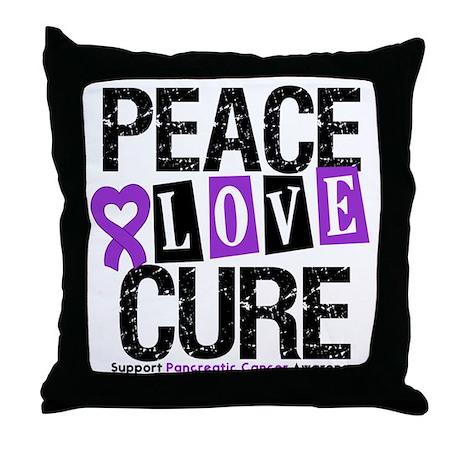 Pancreatic Cancer Cure Throw Pillow