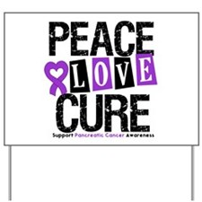 Pancreatic Cancer Cure Yard Sign