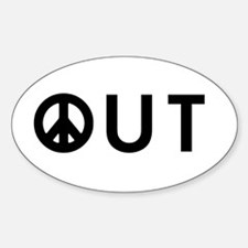Peace Out Oval Decal