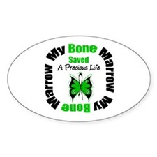 MyBoneMarrowSavedaLife Oval Decal