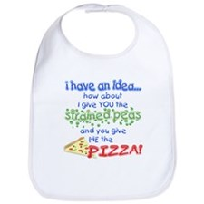 Bib Strained Peas Vs. Pizza Bib