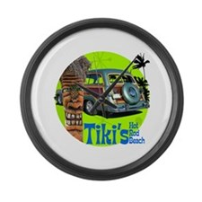 Tiki's Woody Large Wall Clock
