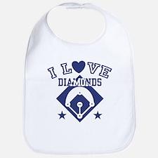 I Love Diamonds Bib