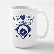 I Love Diamonds Large Mug