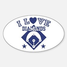 I Love Diamonds Oval Decal