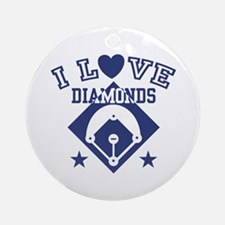 I Love Diamonds Ornament (Round)