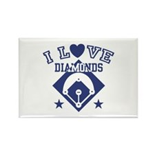 I Love Diamonds Rectangle Magnet
