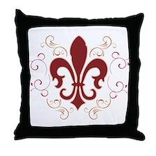 Fleur De Lis 2 Throw Pillow