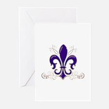 Fleur De Lis 3 Greeting Cards (Pk of 10)