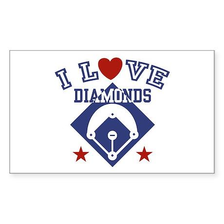 I Love Diamonds Rectangle Sticker
