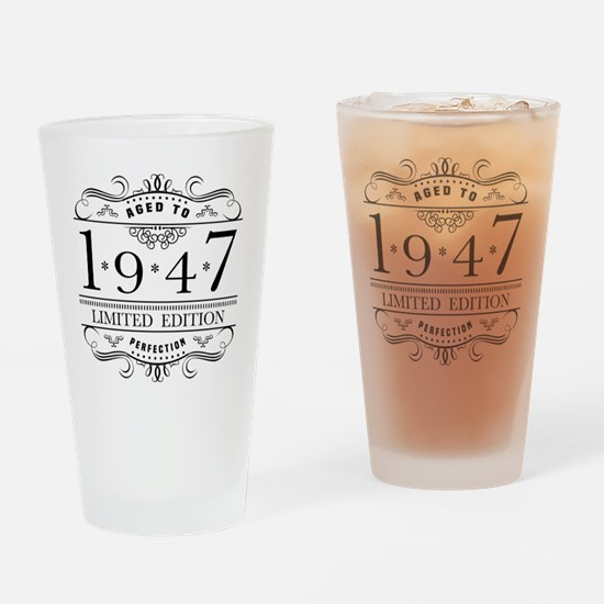 Funny 70th birthday Drinking Glass