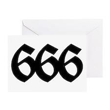666 Greeting Card