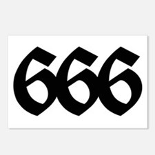 666 Postcards (Package of 8)