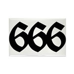 666 Rectangle Magnet