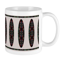 Retro Oval/Lines Abstract Painting Mug