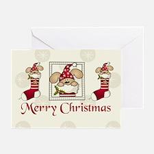 Christmas stocking Greeting Cards (Pk of 10)