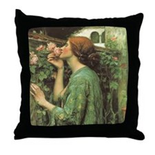 My Sweet Rose by JW Waterhouse Throw Pillow