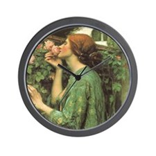 My Sweet Rose by JW Waterhouse Wall Clock