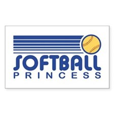 Softball Princess Rectangle Decal
