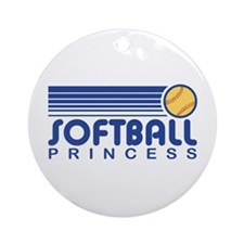 Softball Princess Ornament (Round)