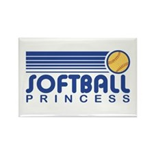 Softball Princess Rectangle Magnet