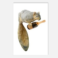 Squirrel Champagne Postcards (Package of 8)