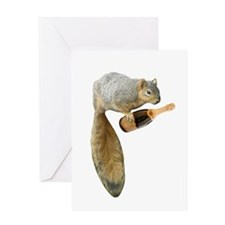 Squirrel Champagne Greeting Card