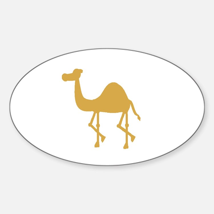 Camel Oval Stickers