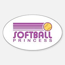 Softball Princess Oval Decal