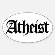 Official Atheist Oval Decal