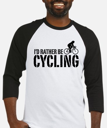 I'd Rather Be Cycling (Female) Baseball Jersey