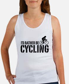 I'd Rather Be Cycling (Female) Women's Tank Top