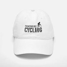 I'd Rather Be Cycling (Female) Baseball Baseball Cap